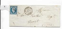 Lettre Napoléon 20 C Non Dentelé, Losange 2854, Secondigny Vers Niort 1859 - 1849-1876: Période Classique