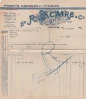 EMA 8F SUR FACTURE R.SICAIRE PRODUITS AGRICOLES LIBOURNE 7/10/48 POUR GUITRES GIRONDE - EMA (Printer Machine)