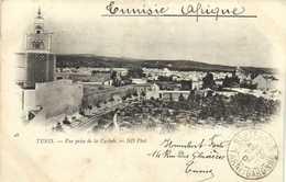 TUNIS  Vue Prise De La Casbah RV Timbre 15c Regence De Tunis - Túnez