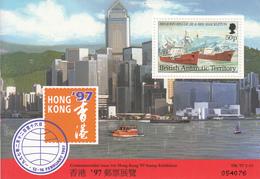 1997 British Antarctic Territory Hong Kong 97 Ships Souvenir Sheet MNH - Ungebraucht