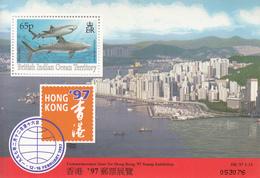 1997 British Indian Ocean Territory Hong Kong 97 Sharks Souvenir Sheet MNH - Ungebraucht