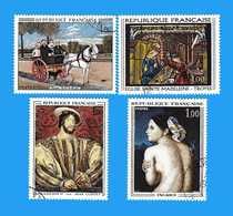 France °- 1967 -  Yvert. 1517-1518-1530-1531.   Oblitéré. - Gebraucht