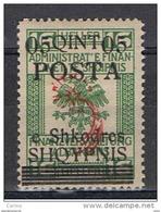 ALBANIA:  1919  SOPRASTAMPATO  -  5 Q./16 H. VERDE  L. -  YV/TELL. 68 - Albania