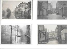 12/25     75   Paris     Inondations De Paris 1910  6 Cartes Photo - Inondations De 1910