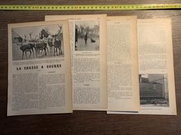 1903 CHASSE A COURRE CERFS LE SERVICE DES POSTES BUREAUX AMBULANTS WAGON POSTE - Colecciones