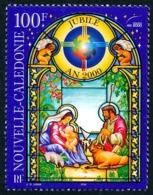 NOUV.-CALEDONIE 2000 - Yv. 837 **   Faciale= 0,84 EUR - Vitrail Nativité. Année Sainte 2000  ..Réf.NCE25500 - New Caledonia