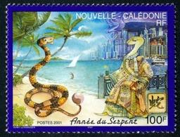 NOUV.-CALEDONIE 2001 - Yv. 838 **   Faciale= 0,84 EUR - Année Lunaire Chinoise Du Serpent  ..Réf.NCE25501 - New Caledonia