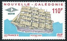 NOUV.-CALEDONIE 2001 - Yv. 839 **   Faciale= 0,92 EUR - Grand Voilier 'France II'  ..Réf.NCE25502 - Nieuw-Caledonië