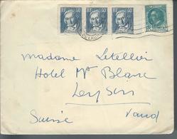 Lettre De France Pour La SUISSE Affranchie Avec N°291 Et 295x3 -  1934 - - Marcophilie (Lettres)