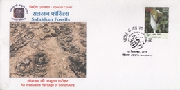 India  2015  Salakhan Fossils  Special Cover  #  24885  D Indien Inde - Fossils