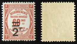 N° TAXE 54 2F/60c Rouge Neuf N** TB Cote 45€ - 1859-1955 Mint/hinged
