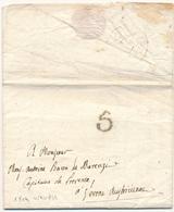 1804 PREFILATELICA DA VENEZIA OVALE NERO   VERONA AUSTRIACA TASSA 5 COMPLETA DI TESTO - 1. ...-1850 Prefilatelia