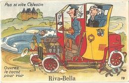 """Dépt 14 - OUISTREHAM - Riva-Bella - Carte à Système Dépliant (10 Mini-vues) - """"Pas Si Vite Célestin, Ouvrez Le Tacot..."""" - Riva Bella"""