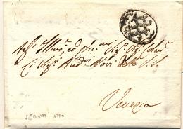 1790 PREFILATELICA DA VERONA OVALE CON RETE IN NEROA VENEZIA COMPLETA DI TESTO - 1. ...-1850 Prefilatelia