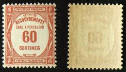 N° TAXE 58 -  60c Rouge Neuf N** TB Cote 15€ - 1859-1955 Mint/hinged