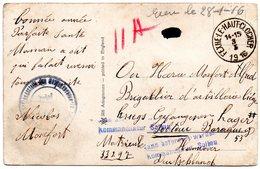 CF Expédiée De FEXHE-LE-HAUT-CLOCHER Vers Un Prisonnier Du Camp De SOLTAU (1916) - Weltkrieg 1914-18