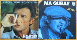 Deux 45 Tours - JOHNNY HALLYDAY - MA GUEULE Et QUELQUE CHOSE DE TENNESSEE - Rock