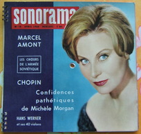 SONORAMA N° 18 Avril 1960 - MICHELE MORGAN - MARCEL AMONT - CHOPIN - ARMEE ROUGE - ACTUALITES MONDIALES - Formats Spéciaux