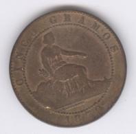 ESPANA 1870: 5 Centimos, KM 662 - First Minting