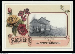 CORTENBOSCH ..  2  Cartes Gare + Train.. Souvenirs  Creations Modernes Série Limité - Belgique