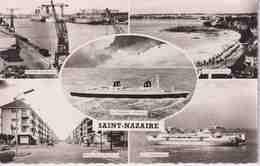 44 SAINT NAZAIRE Ensemble Des Bassins, Plage Villès-Martin, Paquebot France, Av. République, Le Saint Brévin 5 Vues - Saint Nazaire