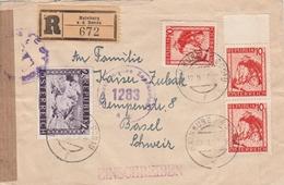 Autriche Lettre Recommandée Censurée Hainburg A D Donau Pour La Suisse 1948 - 1945-.... 2. Republik