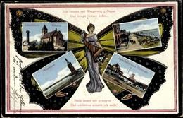 Schmetterling Cp Wangerooge In Friesland, Westturm, Lesehalle, Giftbude, Strand, Leuchtturm, Kirche - Illustrateurs & Photographes