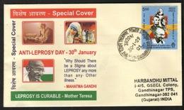 India  2009  Mother Teresa  Mahatma Gandhi  Dr Hensen  Leprosy Is Curable  Special Cover  #  24468  D Indien Inde - Mutter Teresa