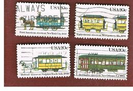 STATI UNITI (U.S.A.) - SG 2052.2055  -  1983  STREETCARS (COMPLET SET OF 4)              - USED - Usati
