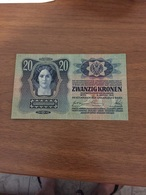 AUSTRIA - HUNGARY  20 KRONEN 1913 VF+++++EXF - Austria