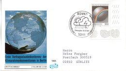 """BRD Schmuck-FDC """"Erste Vertragsstaatenkonferenz Der Klimarahmenkonvention, Berlin"""" Mi.1785 ESSt 9.3.1995 BONN 1 - BRD"""
