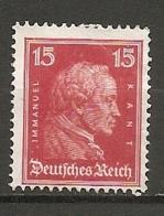 DR - Yv. N°  383 Mi:  391  *  15p  Kant   Cote  3 Euro BE  2 Scans - Deutschland