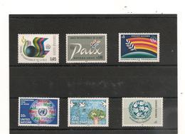 1986 ANNÉE INTERNATIONALE DE LA PAIX - Emissions Communes New York/Genève/Vienne