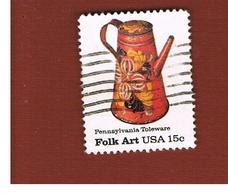 STATI UNITI (U.S.A.) - SG 1750  -  1979  AMERICAN FOLK ART: PENNSYLVANIA TOLEWARE       -  USED - Usati