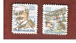STATI UNITI (U.S.A.) - SG A1748.A1749  -  1979   AIR: PIONEERS (O. CHANUTE) - COMPLET SET OF 2             -  USED - 3a. 1961-… Used