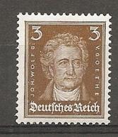 DR - Yv. N°  379 Mi:  385  ** MNH  3p  Goethe Brun  Cote  6 Euro TBE  2 Scans - Deutschland