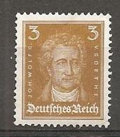 DR - Yv. N°  379a Mi:  386  *  3p  Goethe Bistre-jaune  Cote  1,4 Euro BE  2 Scans - Germany