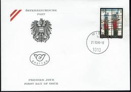Österreich Austria 1988 - Moderne Kunst - Wächter; Gemälde Von Giselbert Hoke - MiNr 1938 FDC - Moderne