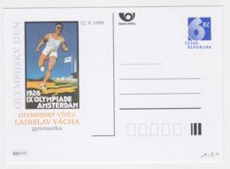 Ceska Republika Postal Stationary 1928 Poster Olympic Games In Amsterdam - Ladislav Vacha, Gymnast - From 1998 - Summer 1928: Amsterdam