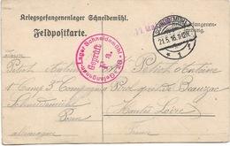 WW1 Schneidemuhl 21 5 1916   Gepruft  F. A.    Adressé à Pirol Près De Beauzac Cachets Top - Postmark Collection (Covers)