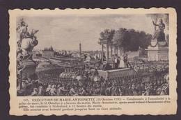CPA Histoire éditeur ELD Non Circulé Dos Séparé Révolution Française Tuileries Marie Antoinette Guillotine - Histoire