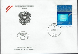 Österreich Austria 1988 - Export - Mit Hologrammfolie - MiNr 1937 FDC - Holograms
