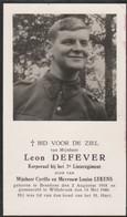 Oorlog Bredene Bidprentje Leon Defever Oudstrijder - Religion & Esotericism
