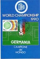 GERMANY WORD CHAMPIONSHIP  1990 MAXIMUM POST CARD (GENN200385) - 1990 – Italië