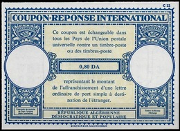"""ALGERIE ALGERIA Lo17A0,80 DAInternational Reply Coupon Reponse Antwortschein IAS IRC Mint """"proof"""" In Perfect Condition - Covers & Documents"""