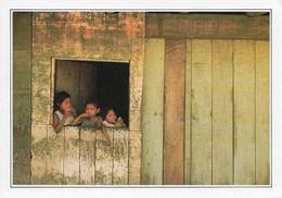 Brésil Manaus Enfants Dans Une Cabane De Planches (2 Scans) - Manaus