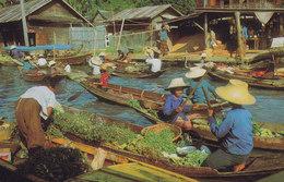 Thailand PPC Wai Sai Floating Market, Dhornburi THAI SILPA No. 561 (Unused) (2 Scans) - Thaïland