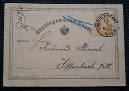 Kaiserreich 1874, Postkarte LEOPOLDSTADT Gelaufen Offenbach - Briefe U. Dokumente