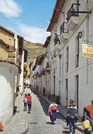 Ecuador PPC Quito Calle De La Ronda 1969 RESELLO POSTAL & OFICIAL Overprinted Stamps Gold Washer Lavaderos De Oro - Ecuador