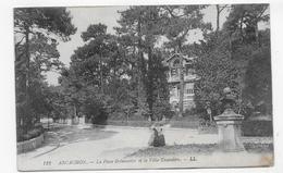 (RECTO / VERSO) ARCACHON EN 1912 - N° 123 - LA PLACE BREMONTIER ET VILLA TROCADERO - BEAU CACHET - CPA VOYAGEE - Arcachon